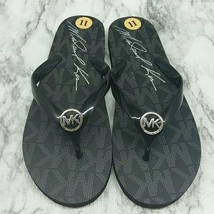 Michael Kors Black Flip Flops Thong Sandals 11